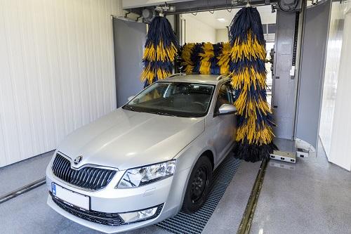 nyvasket bil